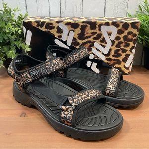 Fila Women's Andros Leopard Strap Sandals